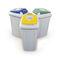 Cubo de basura público / de acero galvanizado / moderno / de reciclaje ISLA ECO-LID  CERVIC ENVIRONMENT