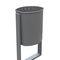 cubo de basura público / empotrable / de acero galvanizado / moderno