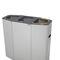 cubo de basura público / de acero galvanizado / de acero inoxidable / moderno