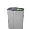 Cubo de basura público / de acero galvanizado / de reciclaje / moderno MUNICH SELF-CLOSING FLAPS CERVIC ENVIRONMENT