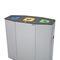 Cubo de basura público / de acero galvanizado / de acero inoxidable / moderno MUNICH SELF-CLOSING FLAPS CERVIC ENVIRONMENT