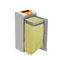 Cubo de basura público / de acero galvanizado / de reciclaje / moderno STOCKHOLM CERVIC ENVIRONMENT