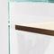 consola moderna / de chapa de madera / de vidrio templado / rectangular