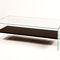 mesa de centro moderna / de chapa de madera / de vidrio templado / rectangular