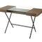 escritorio de chapa de madera / de MDF / de metal / de vidrio templado