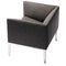 sillón de visita moderno / de tejido / de cuero / aluminio