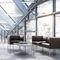 Sillón de visita moderno / de tejido / de cuero / de aluminio ASIENTA by Jehs+Laub Wilkhahn