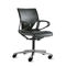 sillón de oficina moderno / de tejido / de cuero / con ruedas