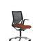 sillón de oficina moderno / de tejido / con ruedas / con patas en forma de estrella