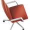 silla de conferencia tapizada / con reposabrazos / con patas en forma de estrella / ajustable