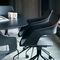 silla de visita moderna / con reposabrazos / tapizada / con patas en forma de estrella