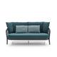 sofá moderno / para jardín / de tela / de fibras sintéticas