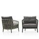 sillón moderno / de tejido / de aluminio fundido / de cuerda