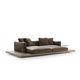 sofá moderno / de cuero / de tejido / de Piero Lissoni