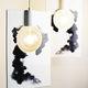 lámpara suspendida / de diseño minimalista / de cerámica / de interior