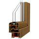 ventana abatible / de PVC / con vidrio doble / acústica