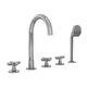 grifo mezclador para bañera / de libre instalación / de metal cromado / para baño