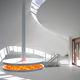 chimenea eléctrica / de diseño original / hogar abierto / suspendida