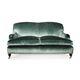 sofá de estilo francés / para zona de recepción / de terciopelo / profesional