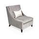 sillón bajo clásico / de tejido / negro / gris