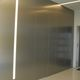 puerta de interior / para vestidor / abatible / de aluminio