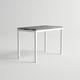 mesa alta moderna / de aluminio / rectangular / de jardín