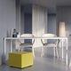 mesa moderna / de acero con revestimiento en polvo / rectangular / de interior