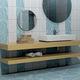 baldosa para baño / de pared / de cerámica / pulida