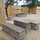 mesa de pícnic de diseño original / de acero galvanizado / de piedra / de HPL