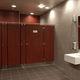 cabina sanitaria para baño para baño público / laminada / de acero inoxidable