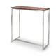 mesa alta moderna / de madera / de acero inoxidable / rectangular