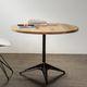 mesa bistró moderna / de acero / de roble / redonda