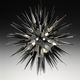 lámpara araña moderna / de cristal de Murano / LED / hecha a mano