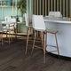 silla de bar moderna / tapizada / con reposapiés / de cuero