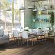 mesa de comedor moderna / de madera / de vidrio / de acero