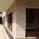 revestimiento de fachada de piedra natural / de arenisca / texturado / liso