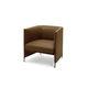sillón moderno / de tela / de cuero / de Luca Nichetto