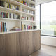 panel laminado doméstico / MDF / para interiores / aspecto madera