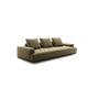 sofá moderno / de cuero / de tejido / 3 plazas