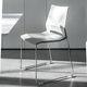silla de conferencia moderna / apilable / patín / con reposabrazos