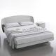 cama doble / estándar / moderna / de madera