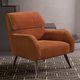 sillón moderno / de tejido / de cromo