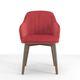 silla moderna / tapizada / con reposabrazos / de terciopelo