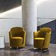 sillón de visita / moderno / de tela / de cuero