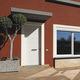 puerta de entrada / abatible / de madera / de corte térmico
