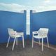 silla de jardín moderna / apilable / de polipropileno / de fibra de vidrio
