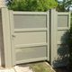 puerta para jardín de aluminio