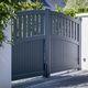 portón abatible / de aluminio / de láminas / para uso residencial