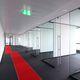 tabique fijo / de vidrio / para sala de reuniones