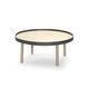 mesa de centro moderna / de roble / redonda / de interior